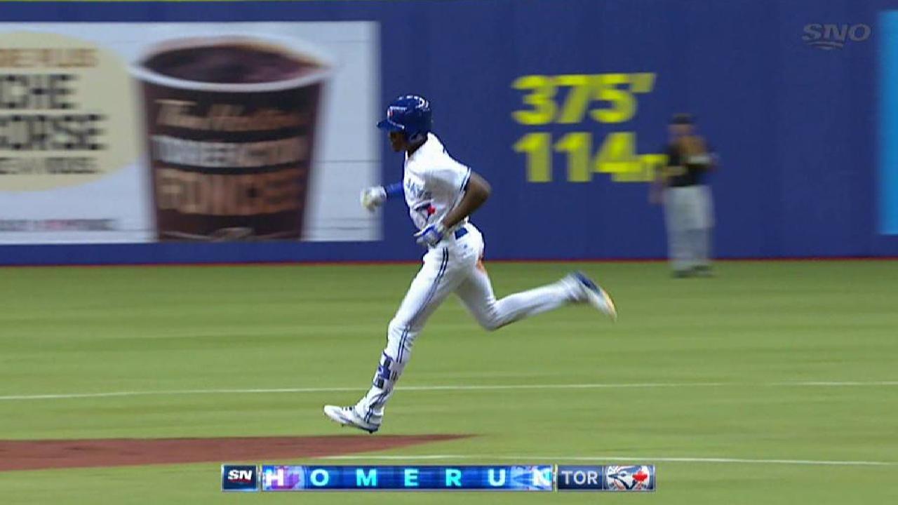 Upton Jr. hits a two-run homer