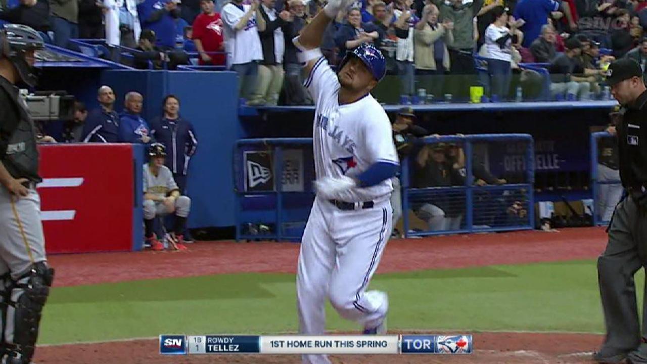Tellez powers a home run to left
