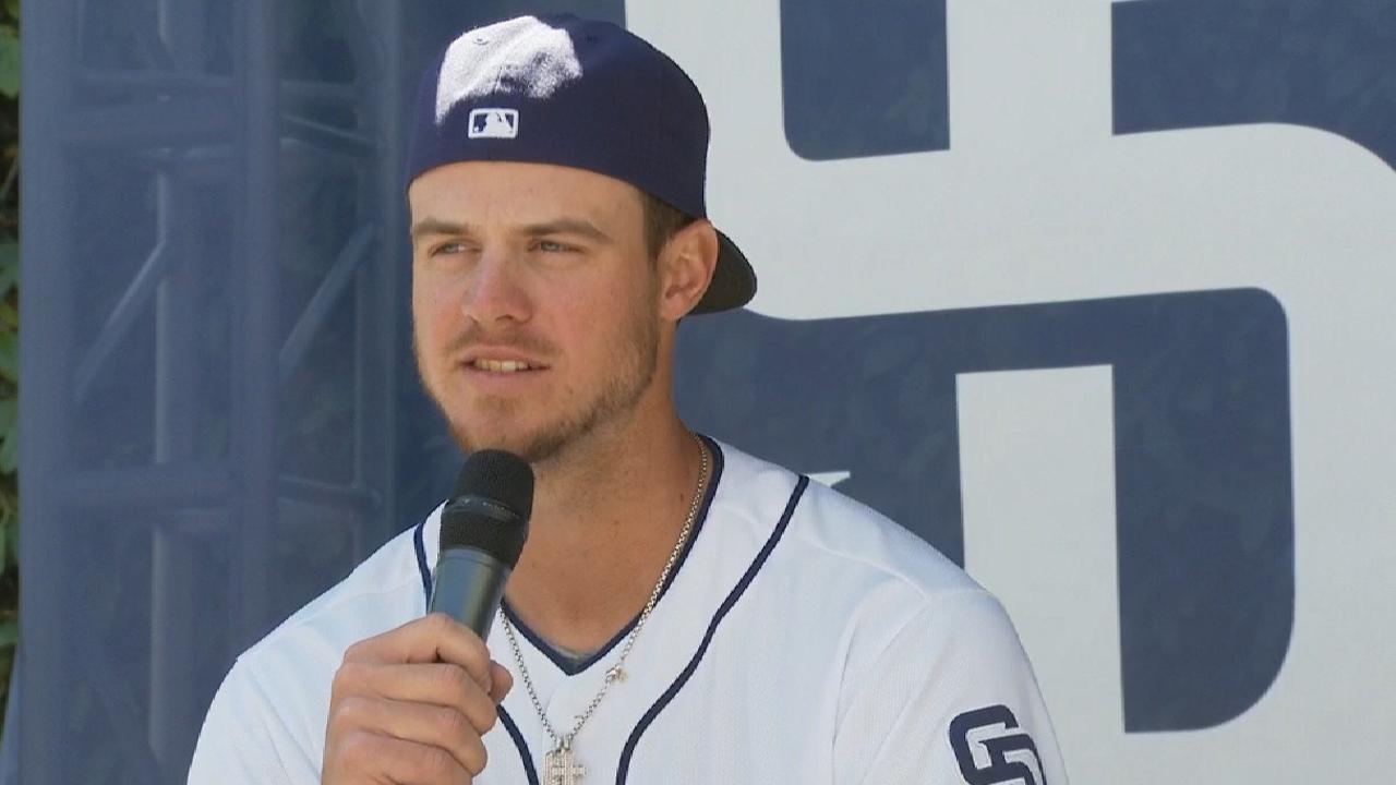 Myers enjoying first base