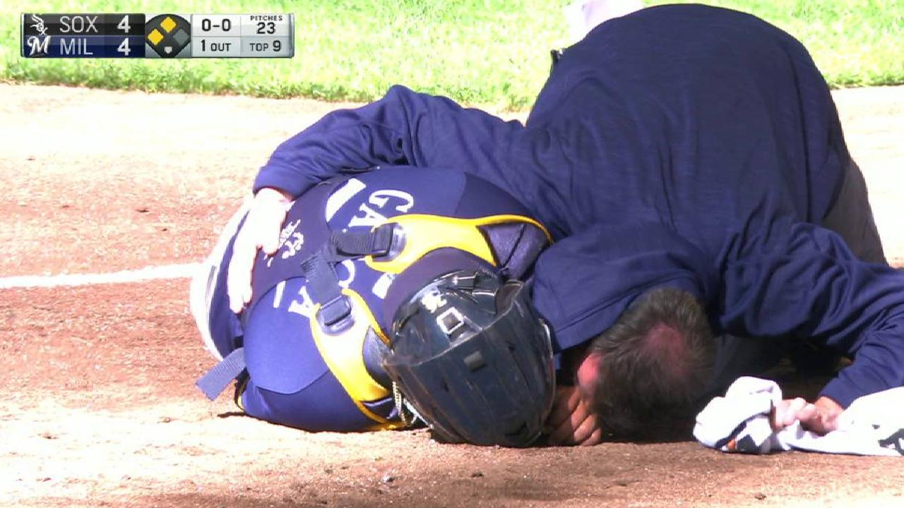 Garcia doing well after home plate collision