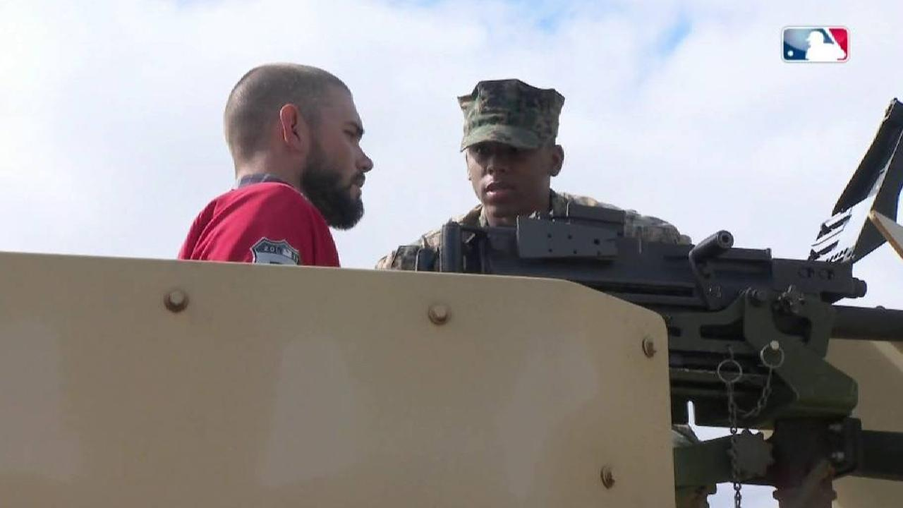 Military gives Nats players tour