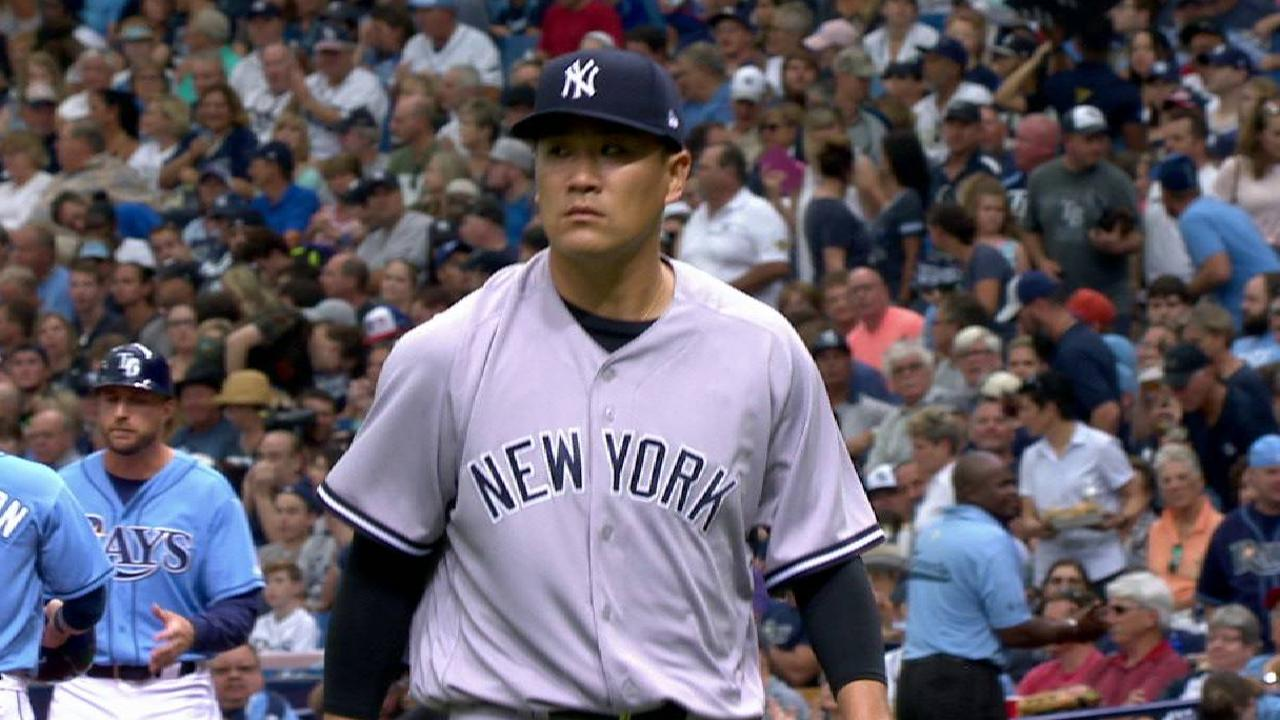 Tanaka's first strikeout