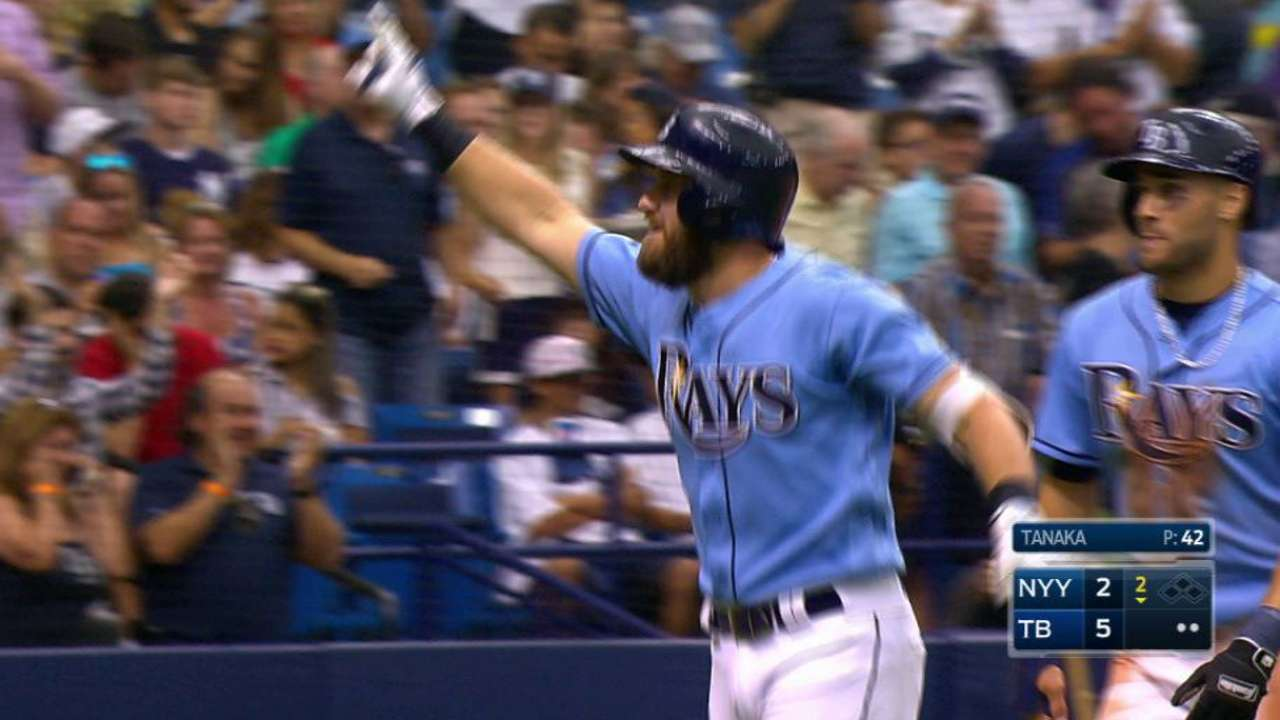 Longo, LoMo hit 2017's first HRs as Archer tops Yanks