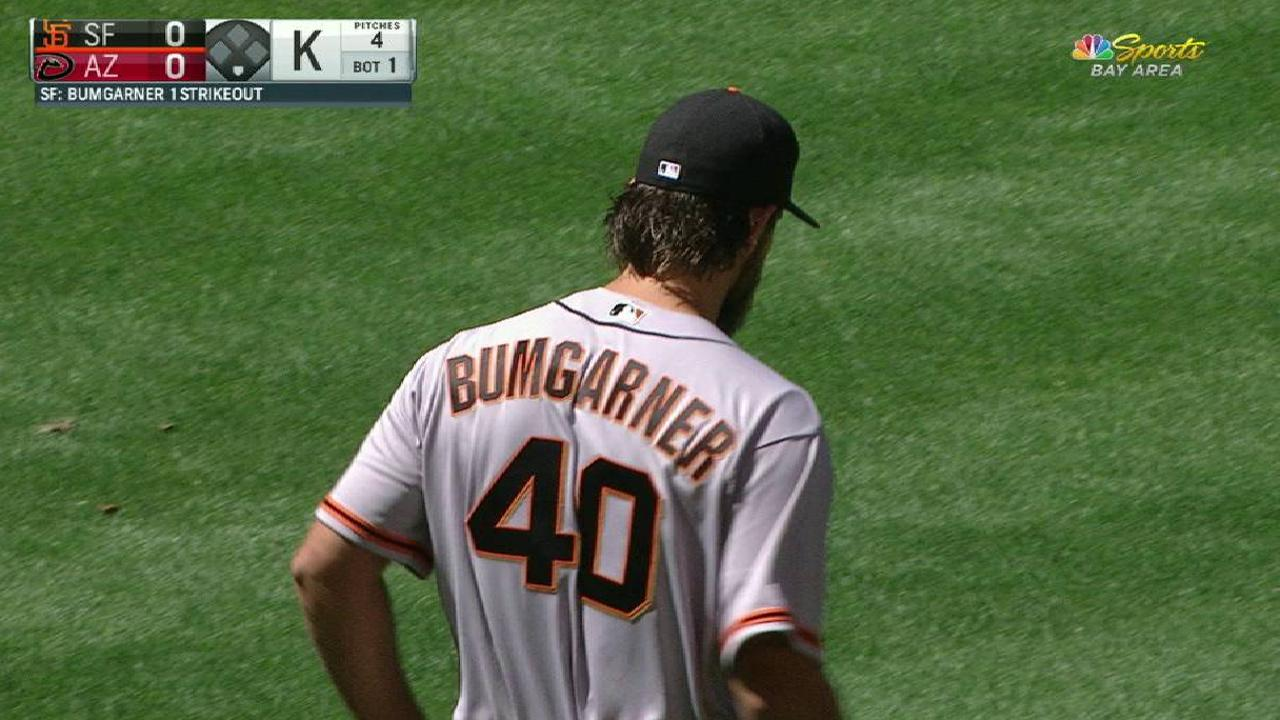 Bumgarner's first strikeout