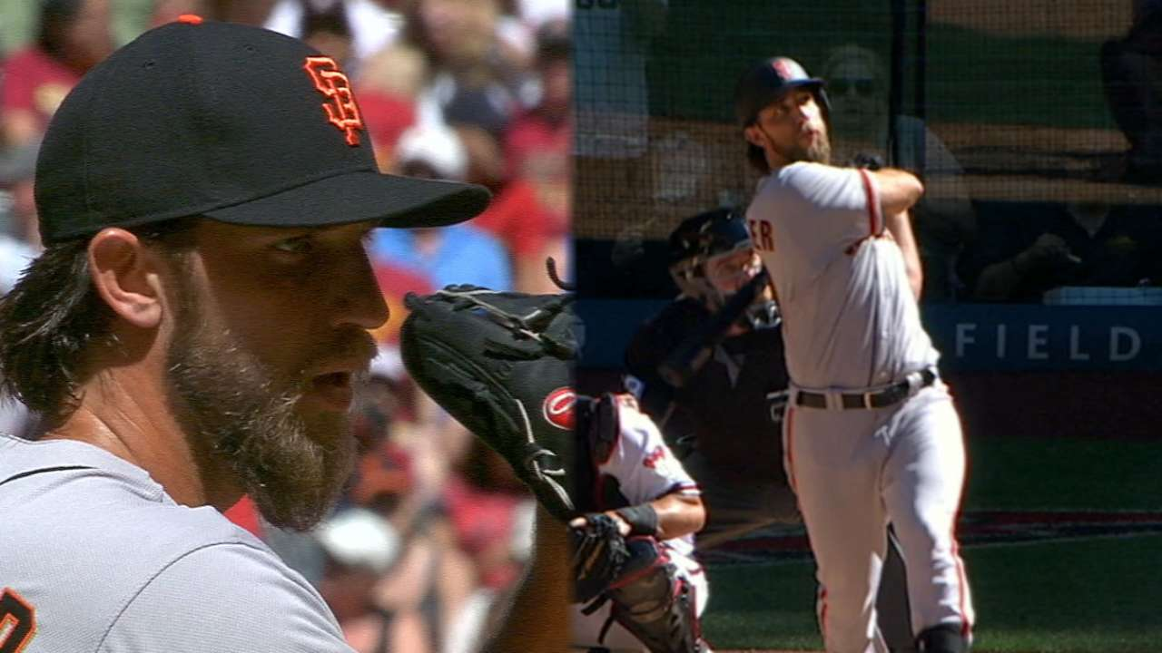 Two much! Bumgarner makes history with Opening Day HRs