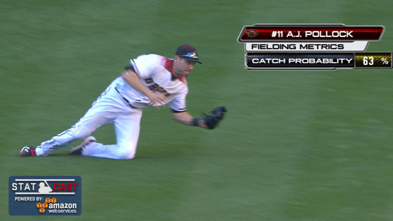 Statcast: Pollock's diving catch