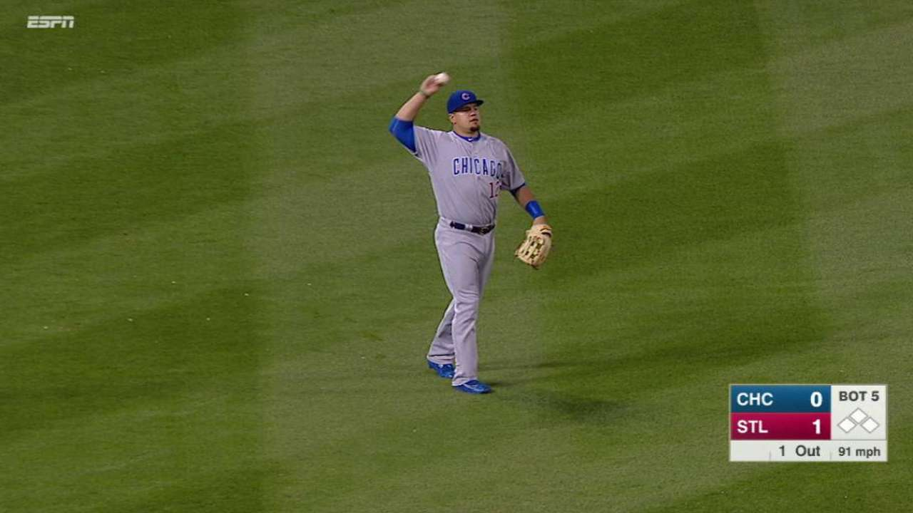 Schwarber's return to left field