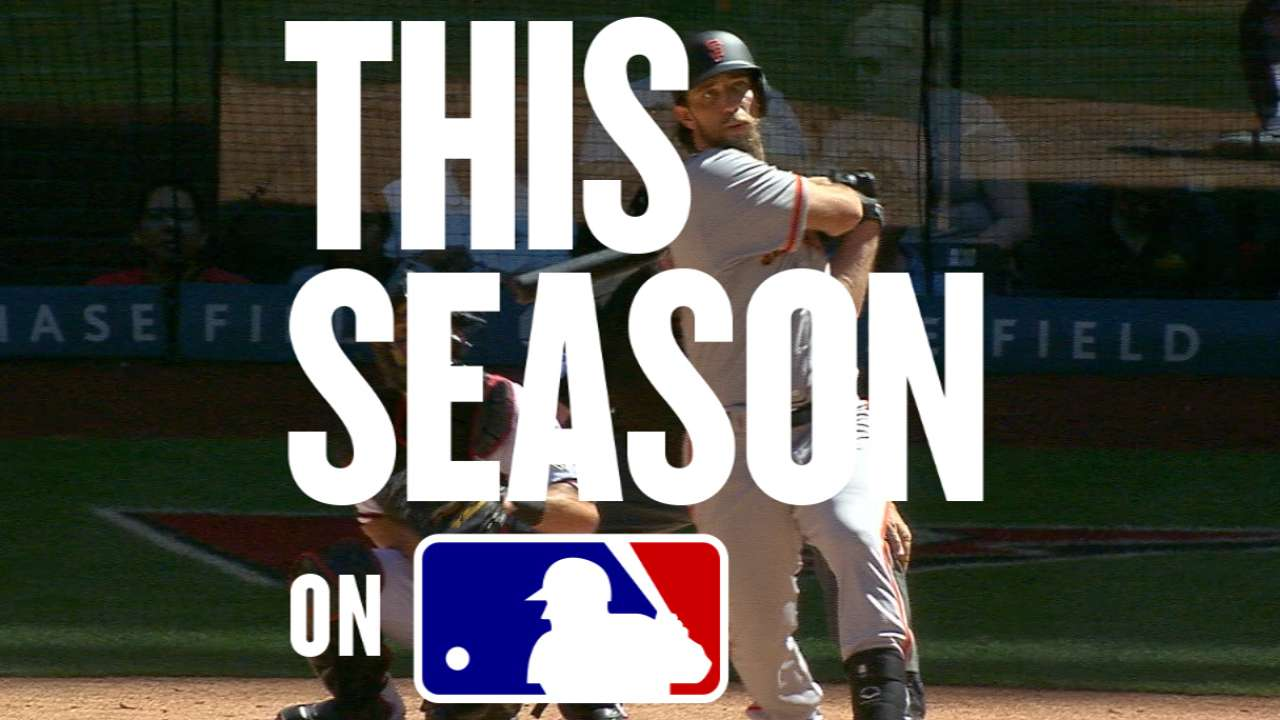 #ThisSeason: Bumgarner's two HRs