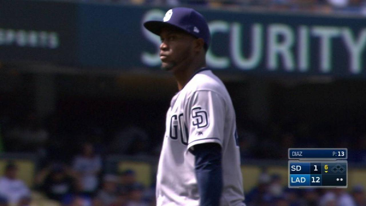Diaz's first career strikeout