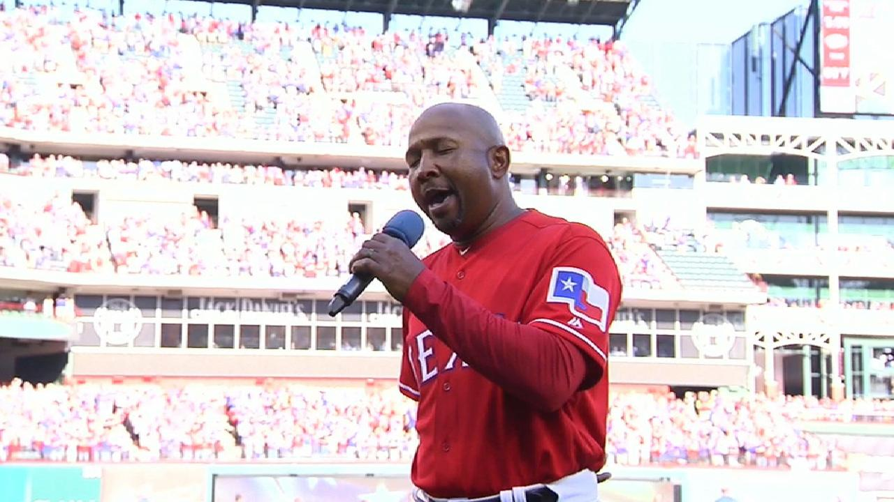 Beasley moves Arlington crowd with anthem