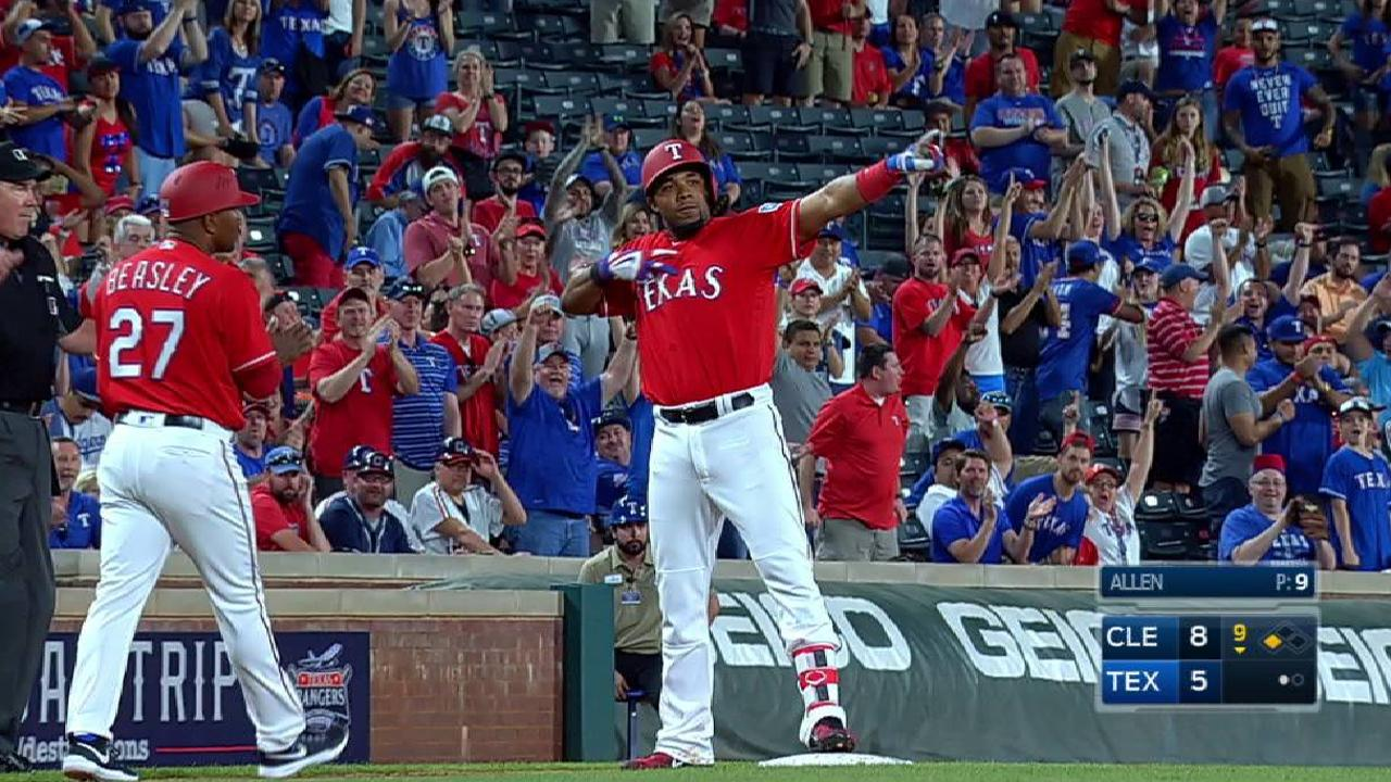 Andrus drives a triple to left