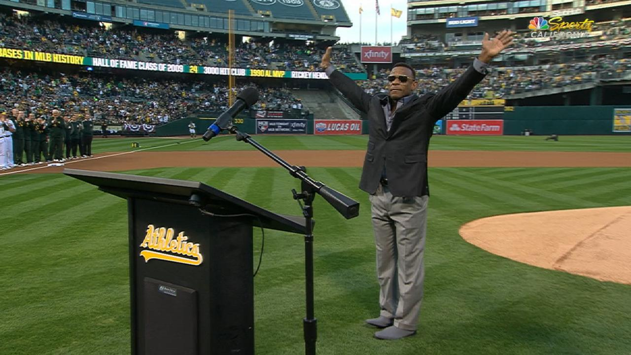 A's honor Rickey Henderson