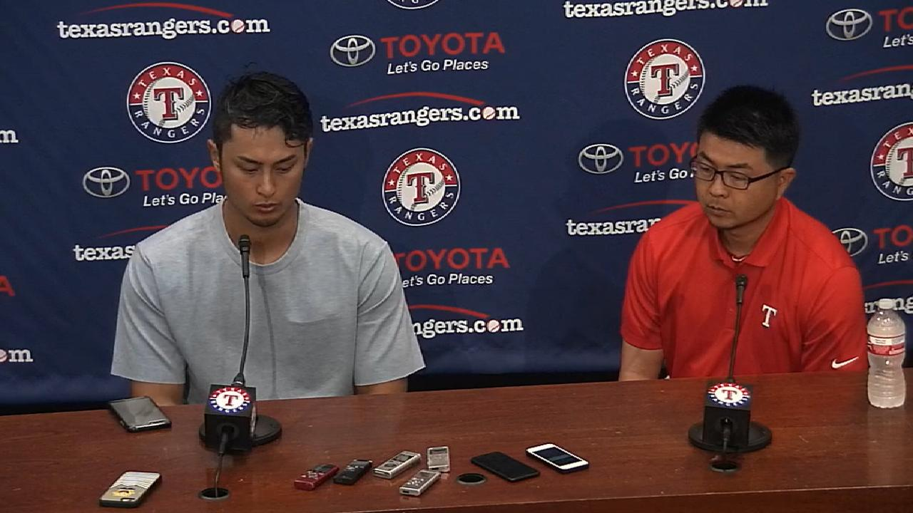 Darvish: OD start a 'really tough outing'