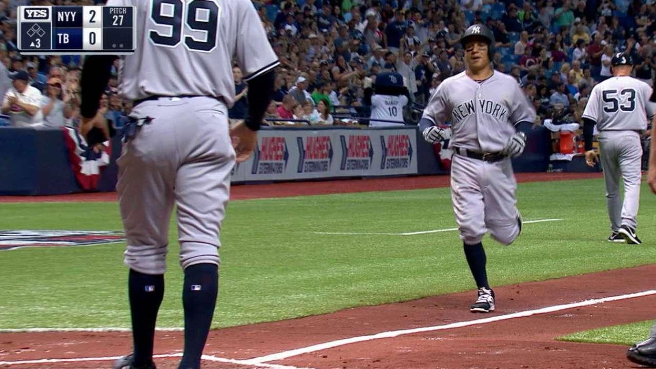 Los Yankees se imponen a Rays con poder y pitcheo
