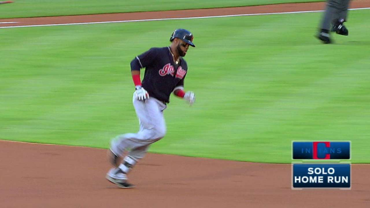Santana's leadoff home run