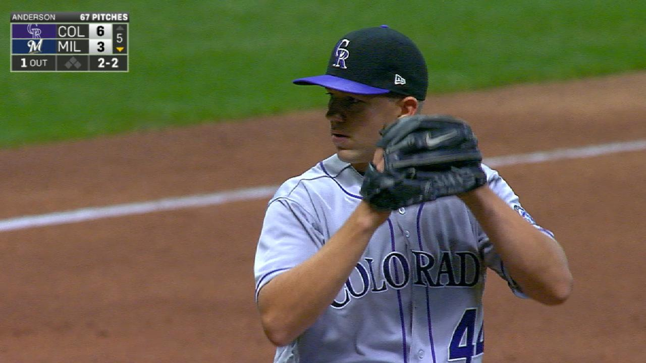 Rockies give Anderson another day of rest