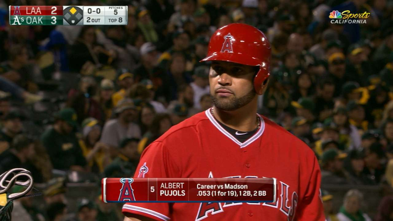 Pujols fine with new intentional walk rule