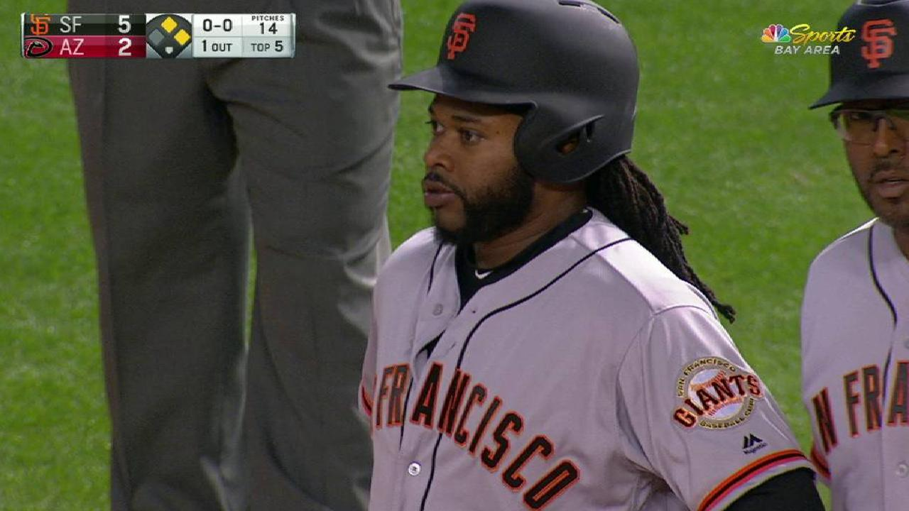 Pitch, hit and run: Cueto does it all vs. Arizona