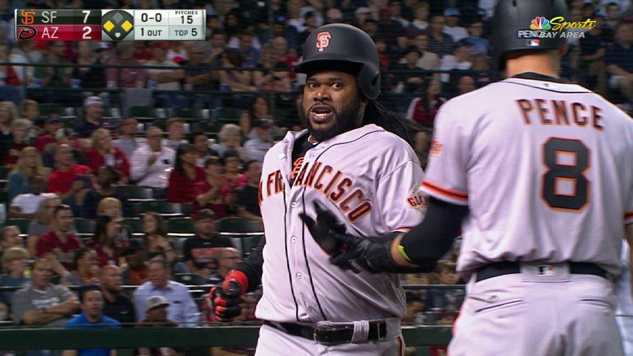 Giants pull away from D-backs with big 5th