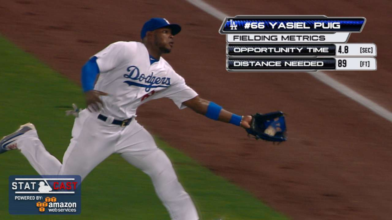 Statcast: Puig's dashing grab