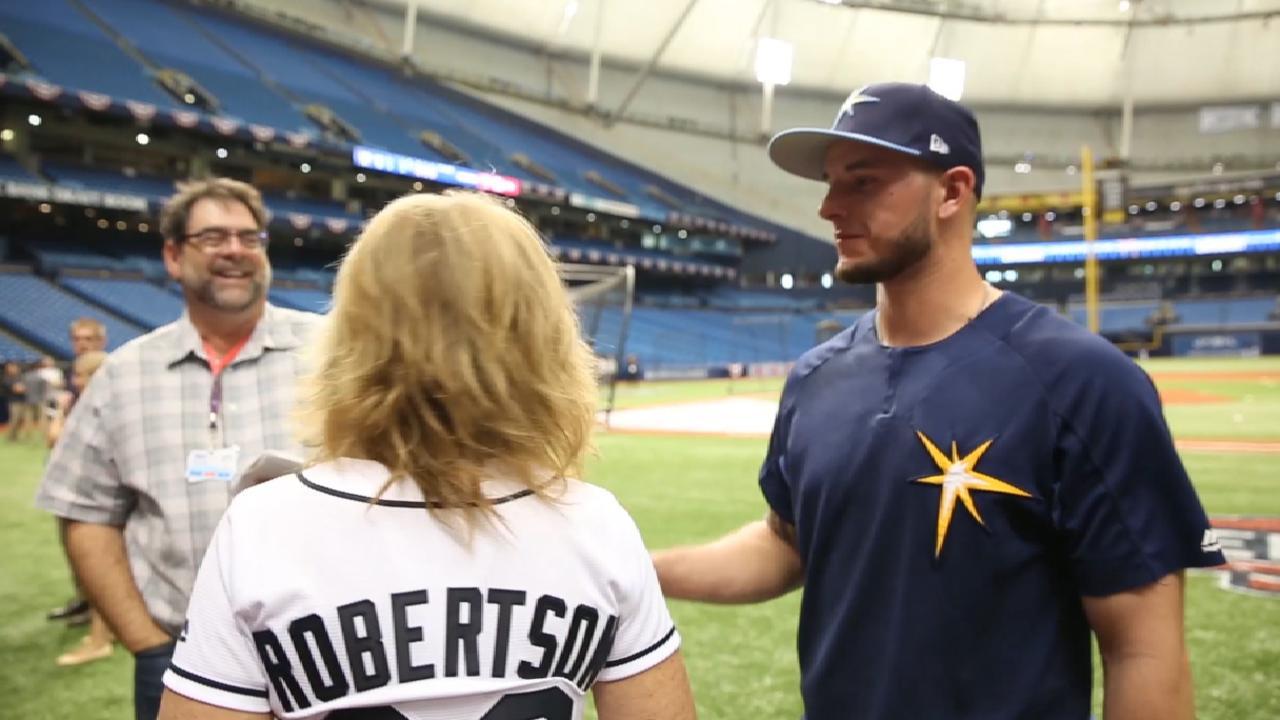 Mom cherishes Robertson's Rays debut