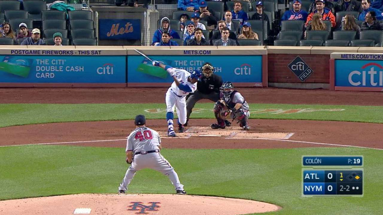 Colon's first K of the season