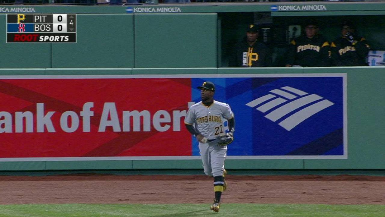 McCutchen's catch at the wall