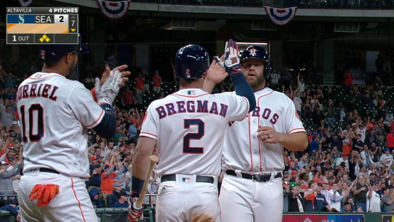 Springer's two-run double