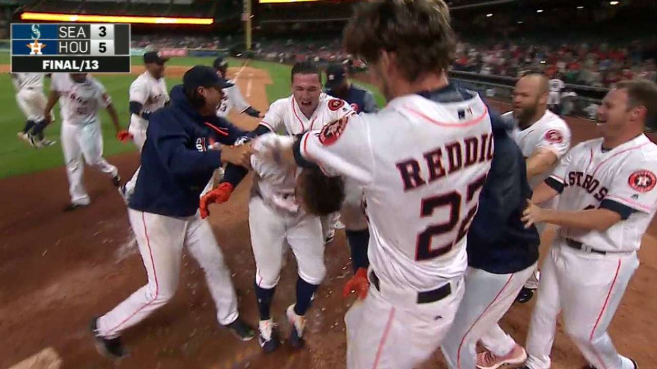 By George, Astros rally for walk-off win in 13th