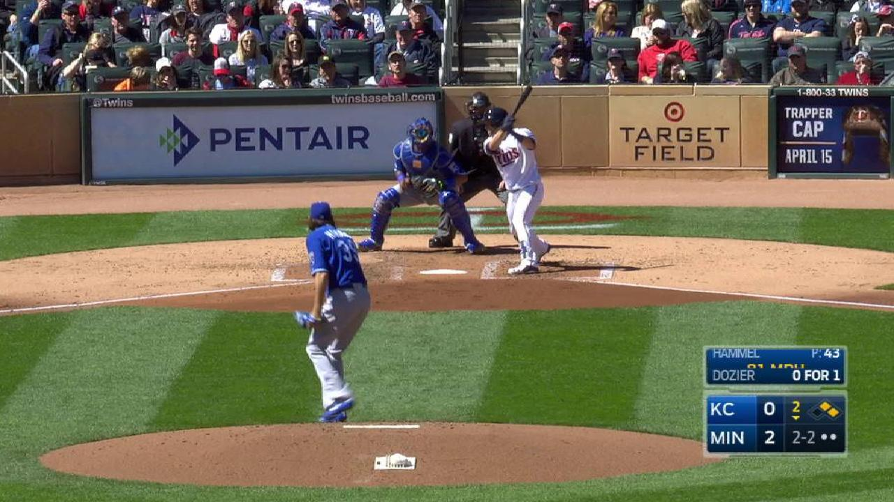 Hammel's first K with the Royals