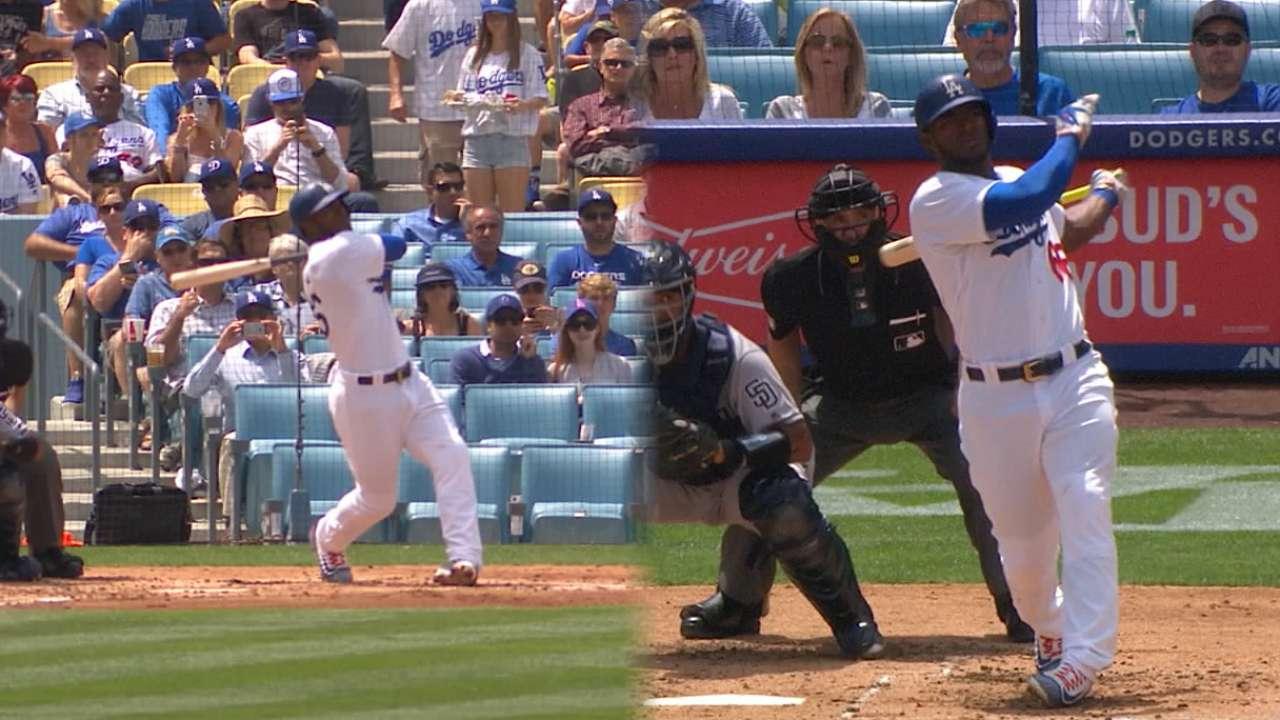 Puig pega 2 jonrones y Dodgers se llevan serie ante Padres