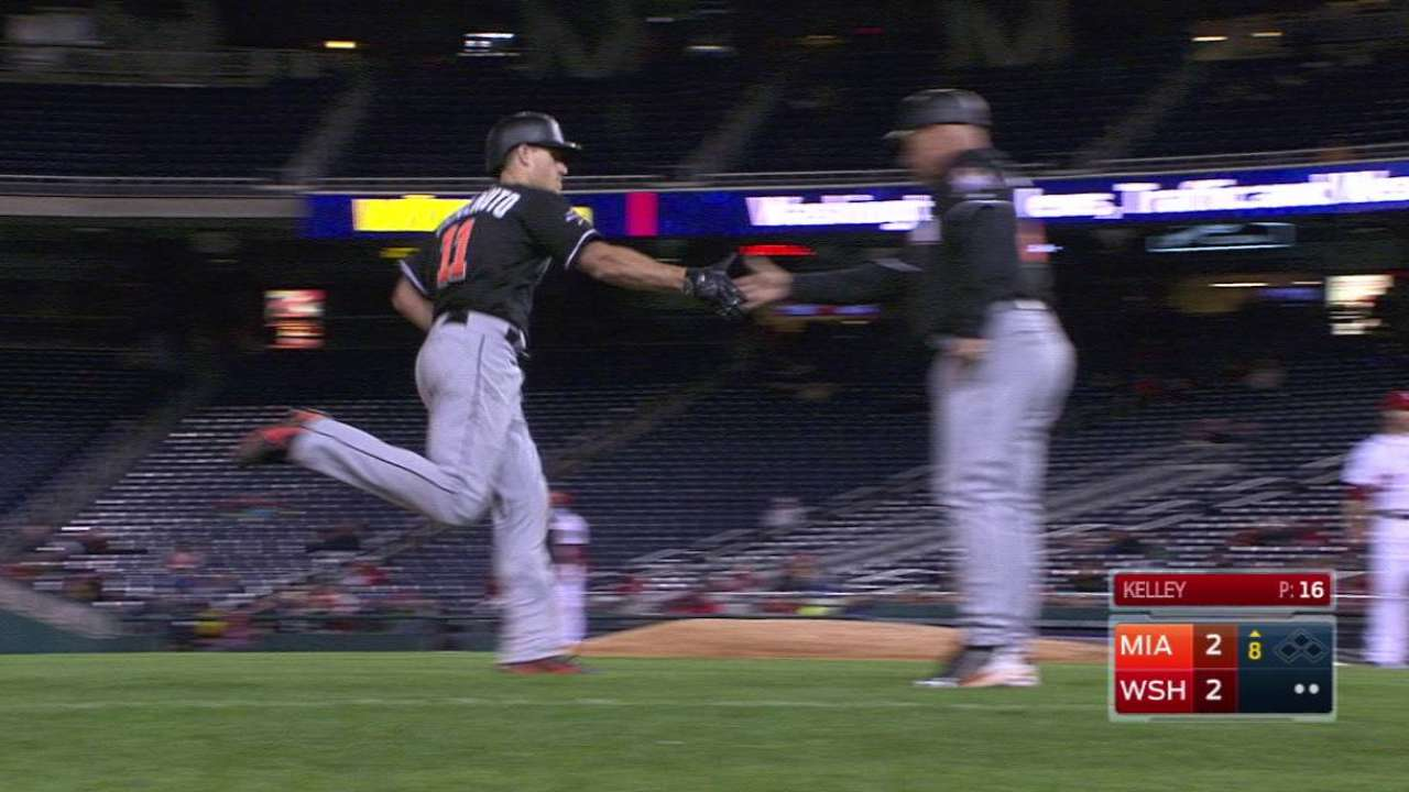 Realmuto, Bour provide late pop for Fish