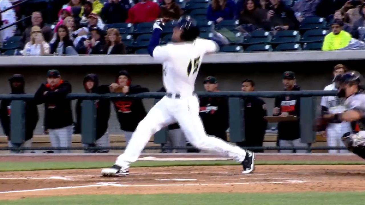 Tebow's first MiLB home run