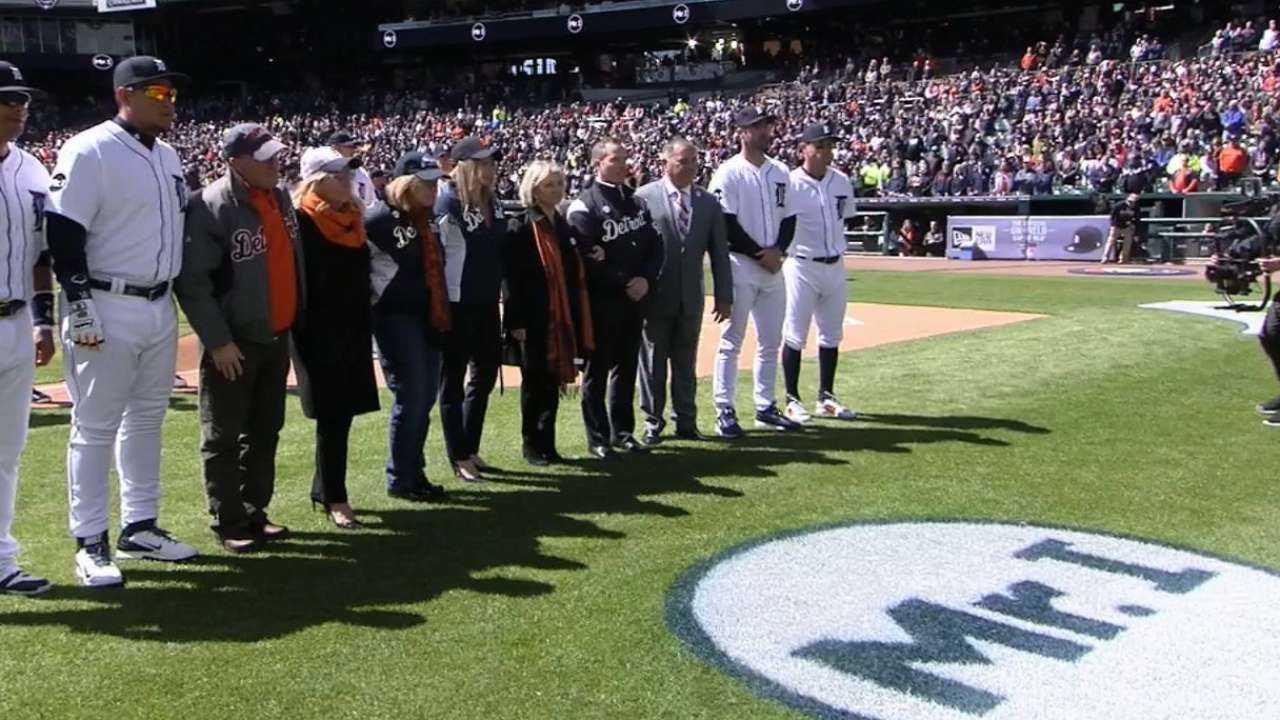 Tigers honor Mike Ilitch