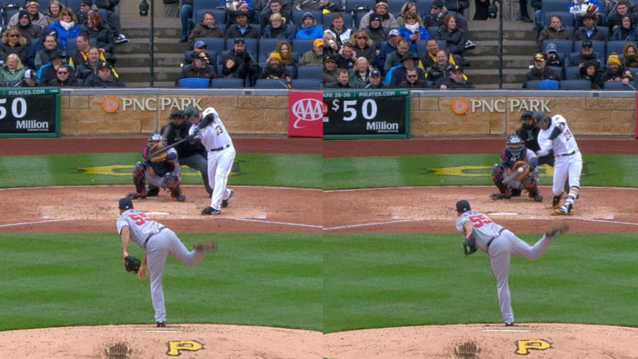 Pirates flash power with back-to-back HRs