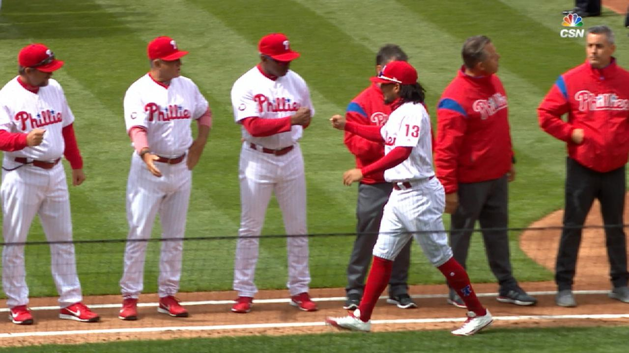Phillies' lineup introduced