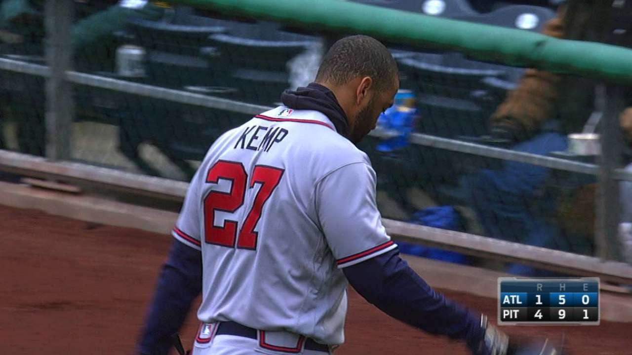 Kemp hopes to return to lineup Tuesday