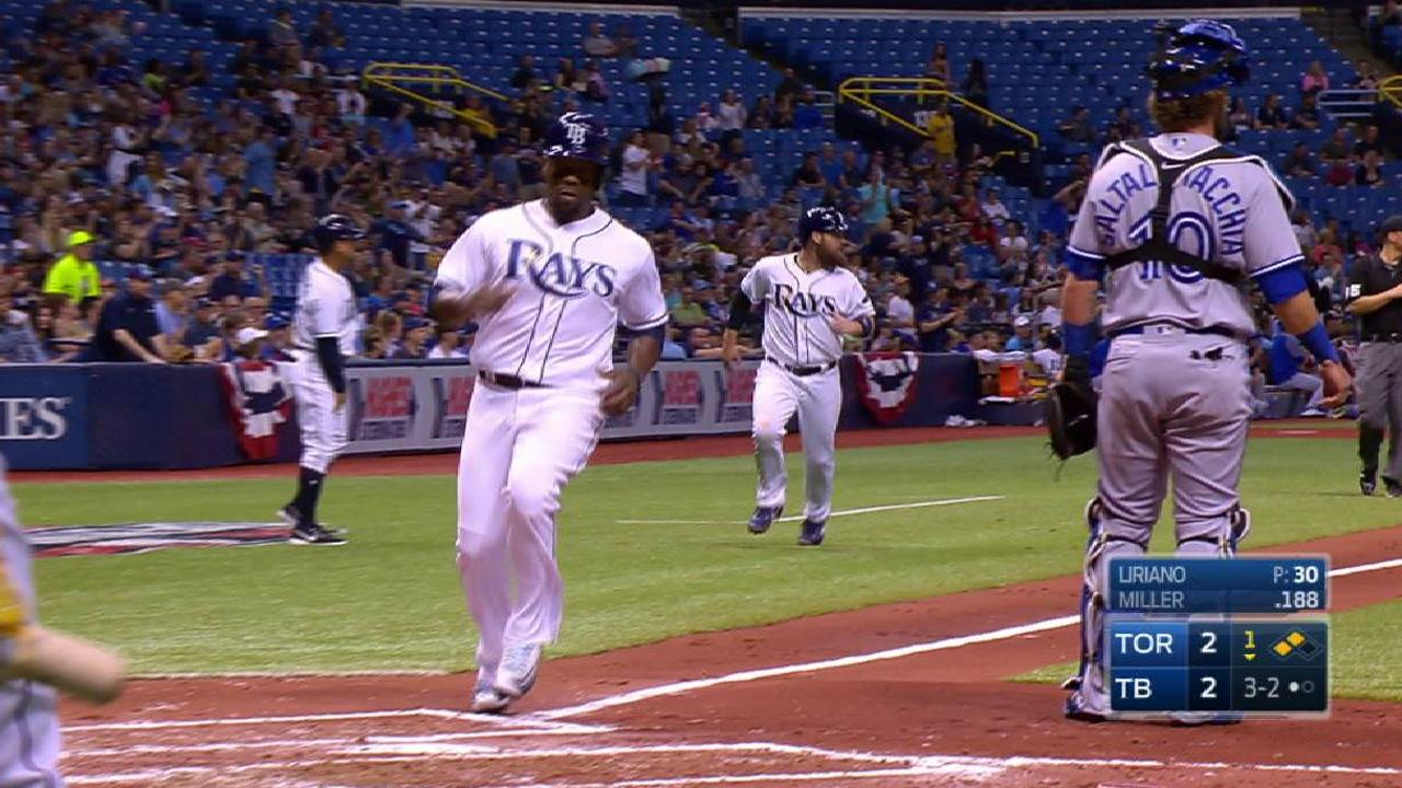 Miller's two-run double