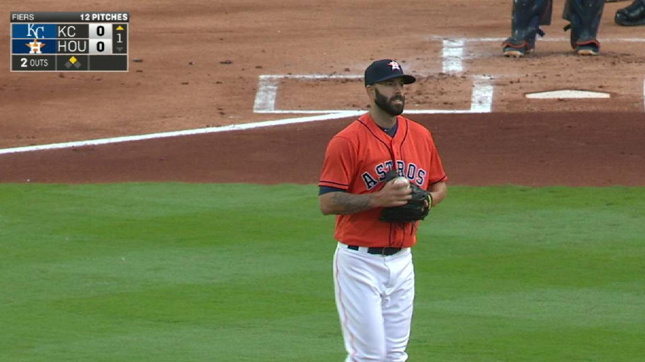 Offense struggles in Fiers' solid first start