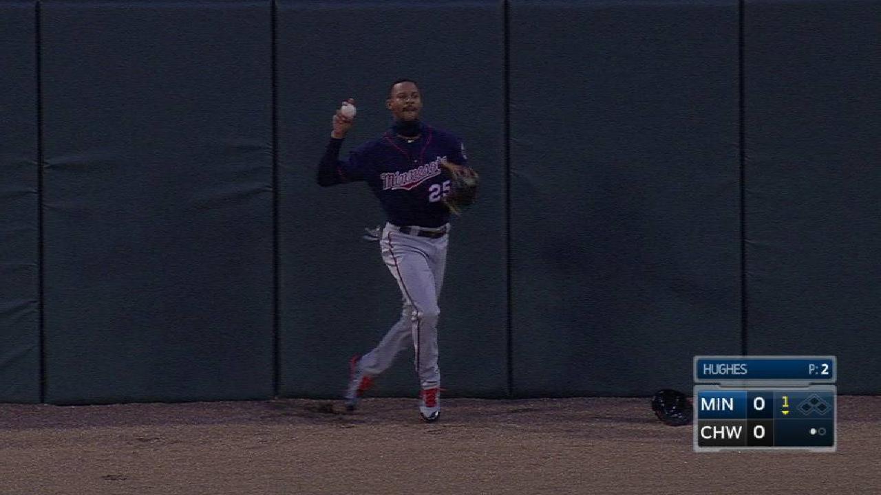 Buxton takes away extra-base hit