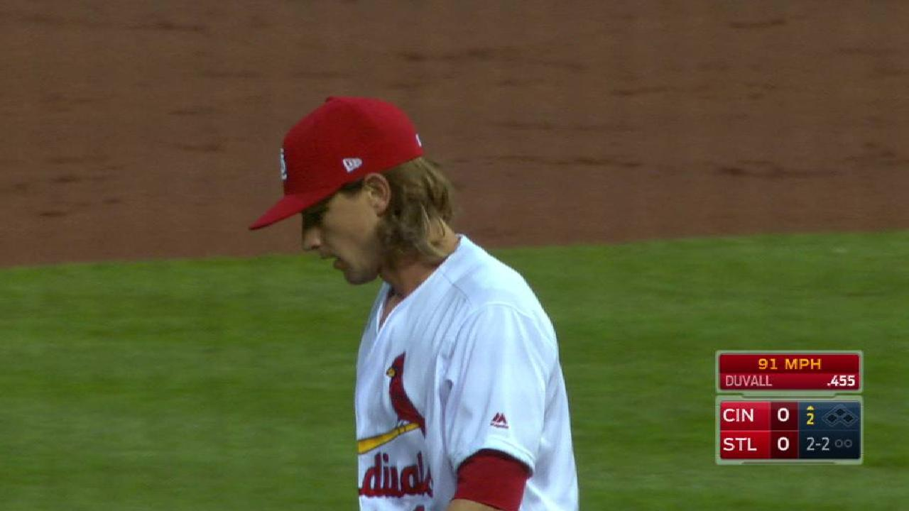 Leake's first strikeout of 2017
