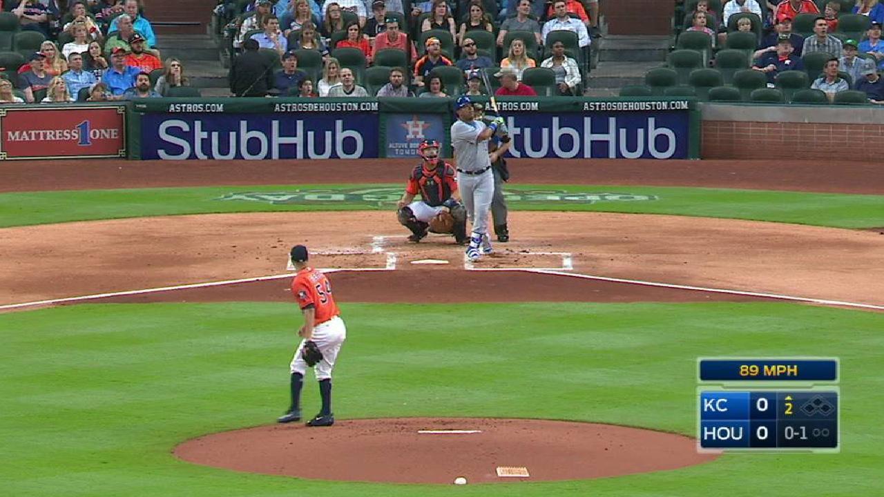 Perez smashes a solo homer