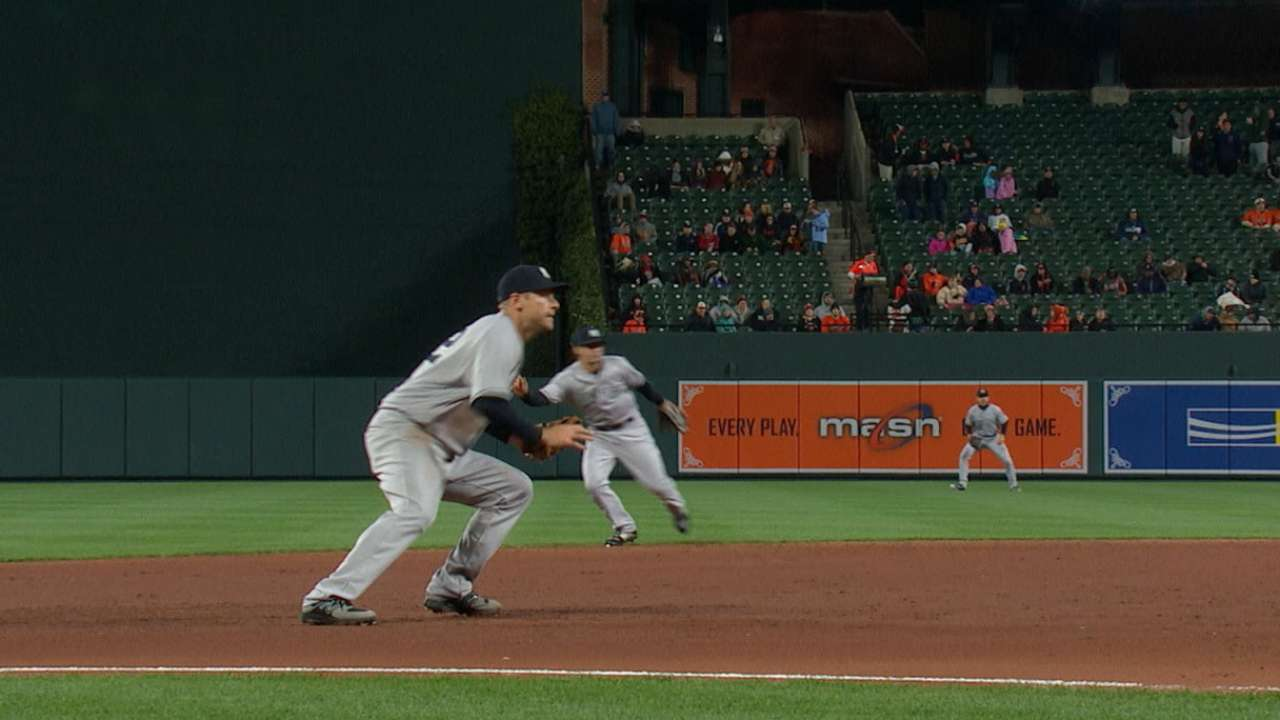 Headley flashes the leather