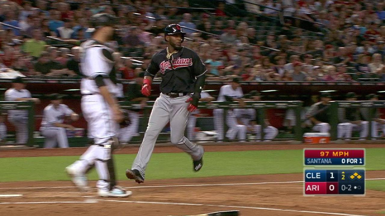 Santana's two-run single