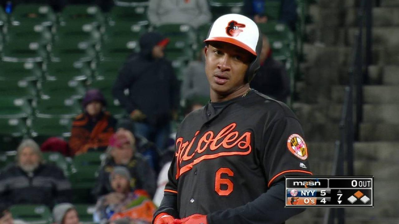 Schoop reaches on an error