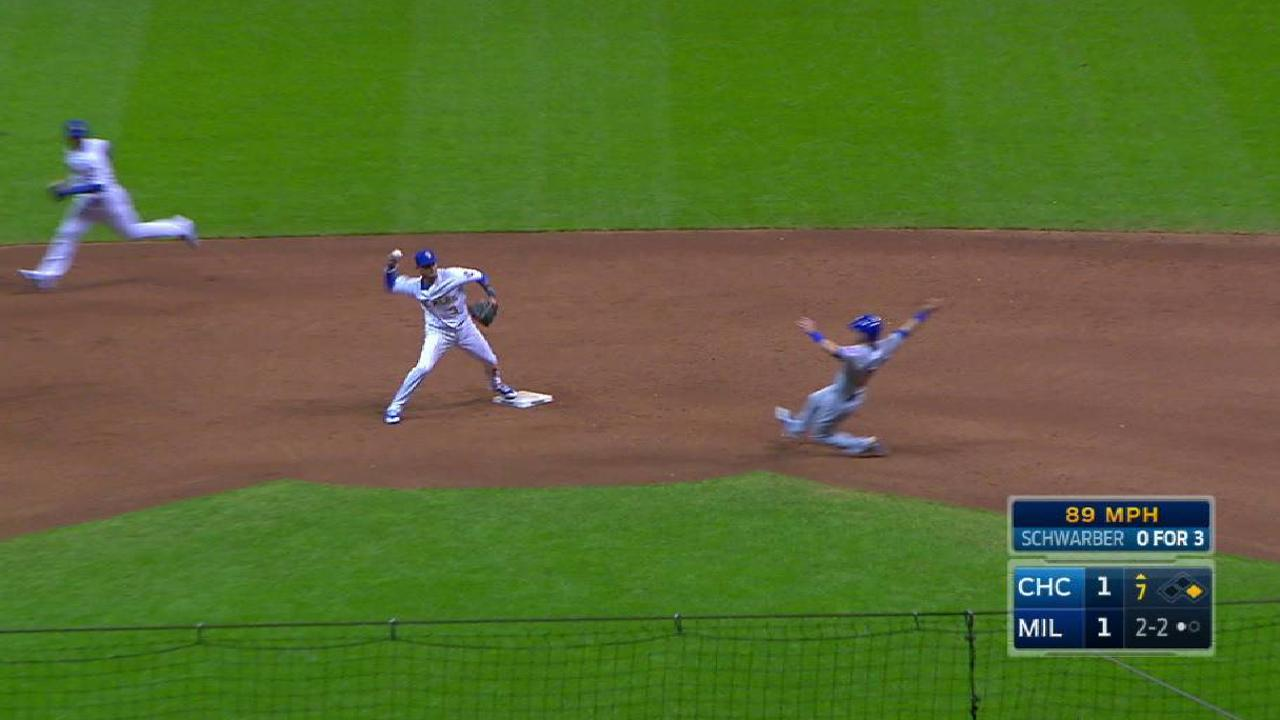 Brewers turn two to end inning