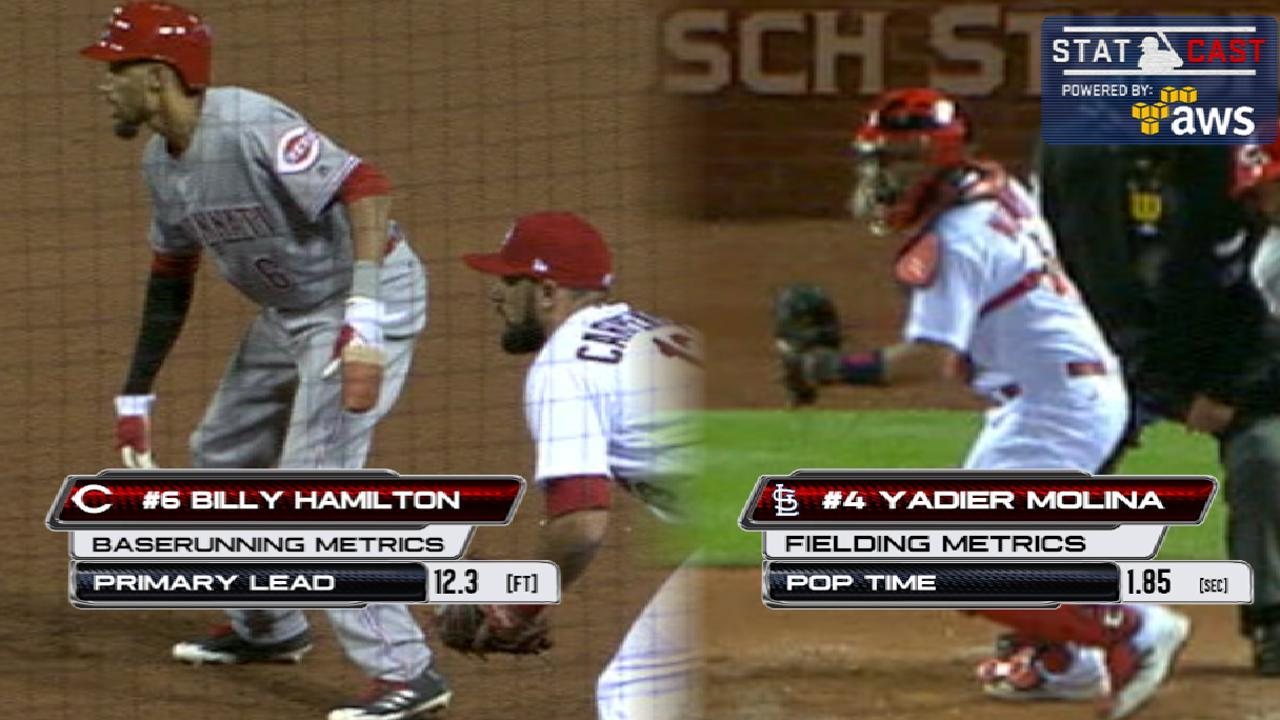 Statcast of the Day: Hamilton's hustle tops Yadi