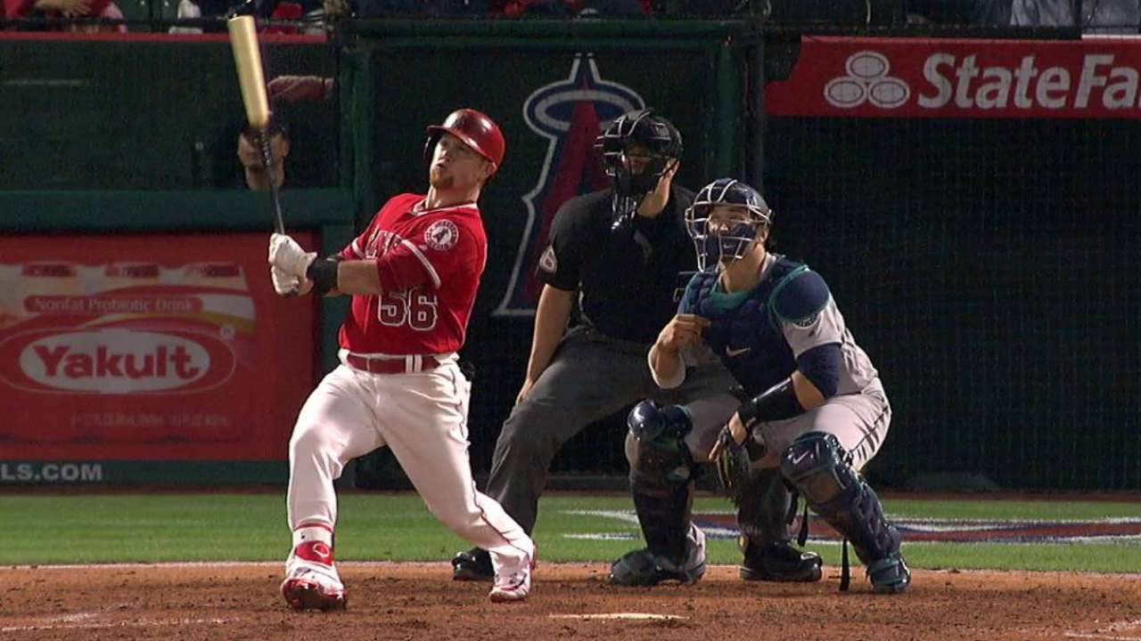 Chavez, Halos handle Seattle in home opener
