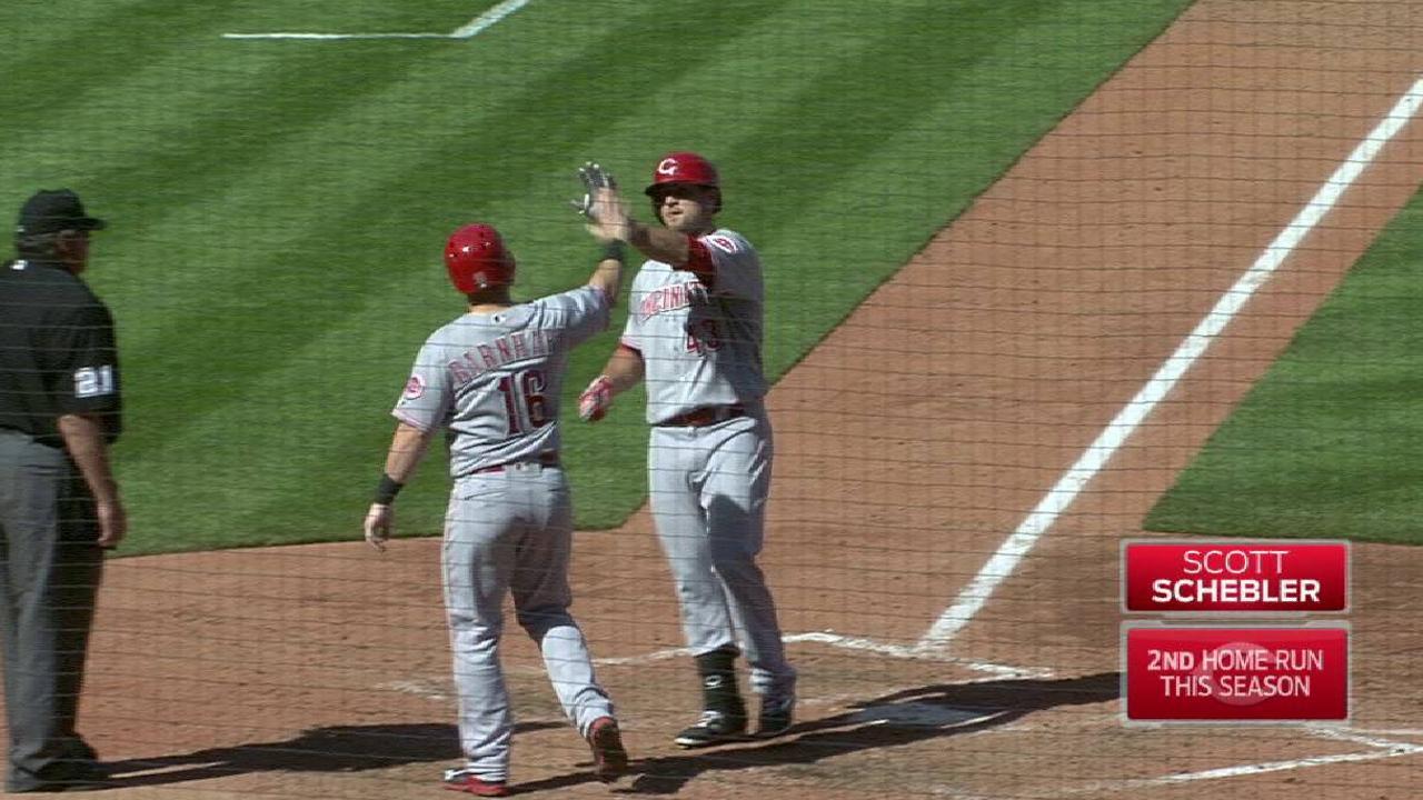 Schebler's two-run home run