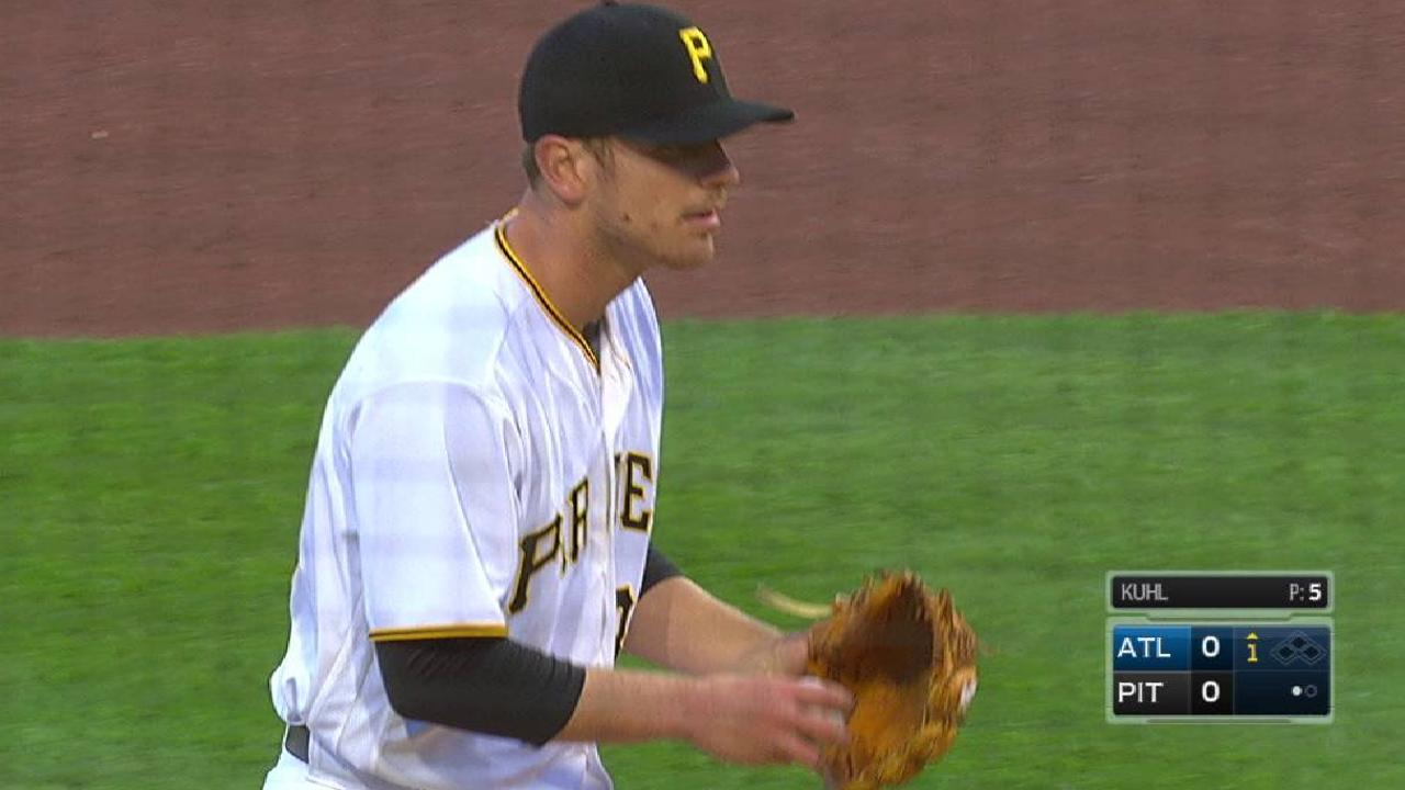 Kuhl's first strikeout of 2017